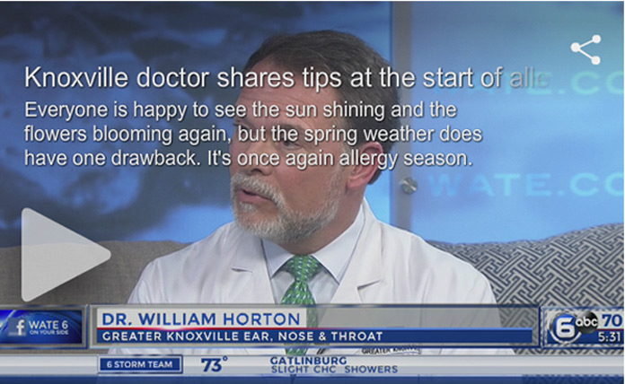 Dr. Horton Shares Allergy Tips on WATE